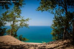 Lake Michigan from the top of Sleeping Bear Dune.
