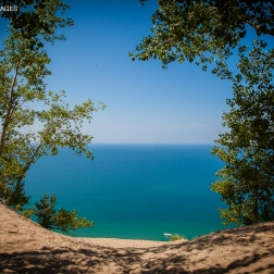 Lake Michigan from the top of Sleeping Bear Dune.