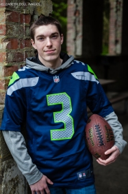 This is Seattle, of course he's a Seakhawks fan!