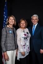 Barbara Feasey, Gov. Susanna Martinez, and Bill Bryant
