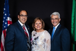 Candidate for state House, Ramiro Valderrama, Gov. Susanna Martinez, and Bill Bryant.